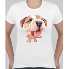 Женская футболка Собака улыбака