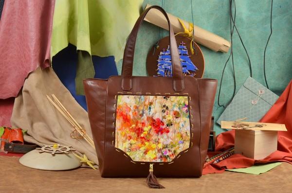 Коричневая сумка-шопер Буйство цвета  Elole Design