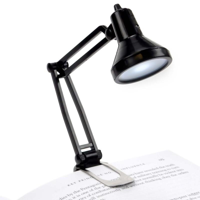 Черная мини-лампа для чтения Tiny Tim