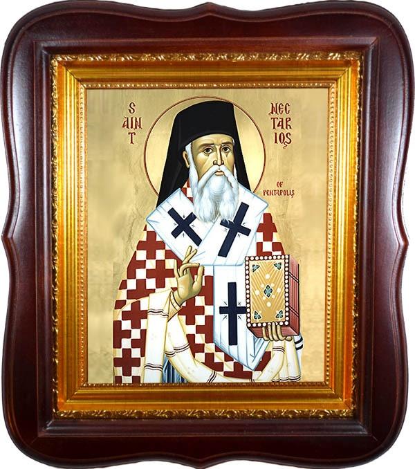 Святитель Нектарий Эгинский Пентапольский. Икона на холсте.