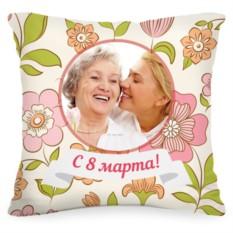 Подушка с Вашим фото «Цветы»