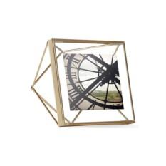 Золотистая стальная фоторамка Prisma