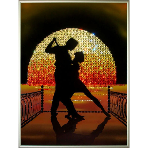 Картина с кристаллами Swarovski Танго на пирсе