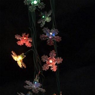 Электрическая гирлянда Снежинки, 100 цветных миниламп