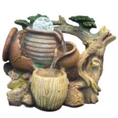Настольный декоративный фонтан Время — вода с подсветкой