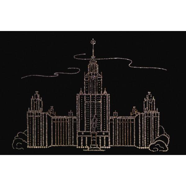 Картина с кристаллами Swarovski МГУ