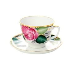 Фарфоровая чайная чашка с блюдцем Любовь