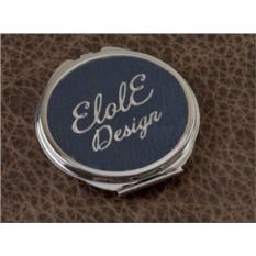 Карманное зеркальце, коллекция Elole Design (синий, тип 2)
