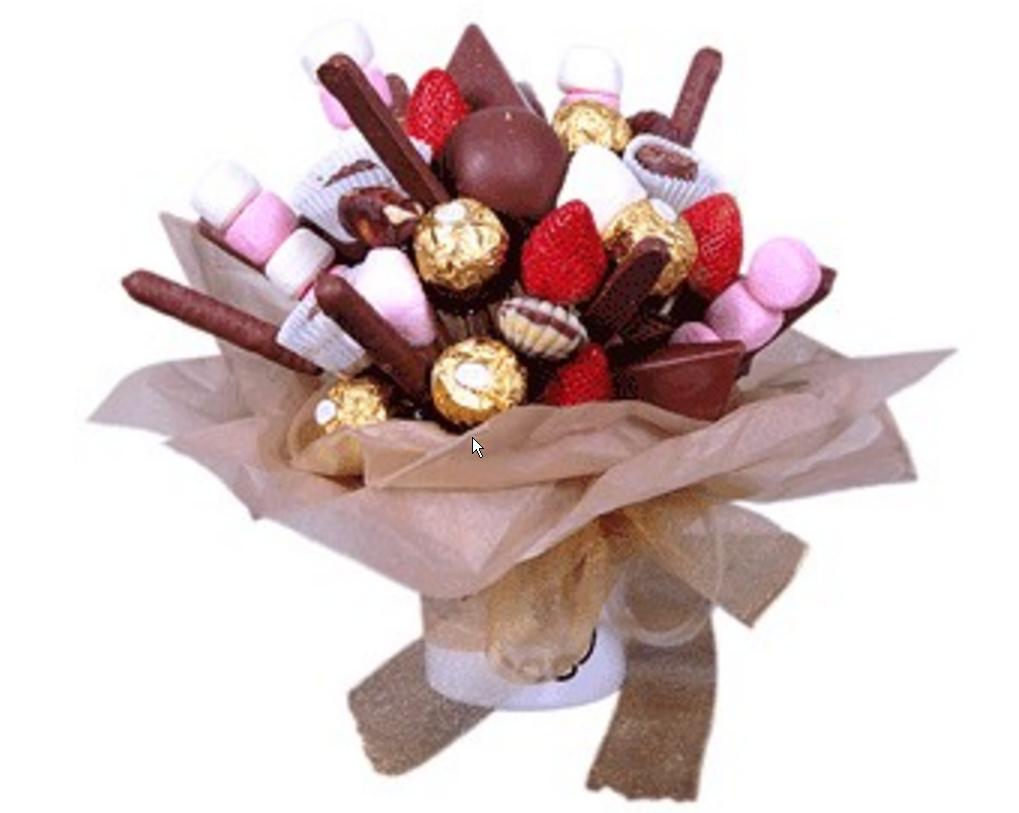 Букет из конфет и фруктов Choco
