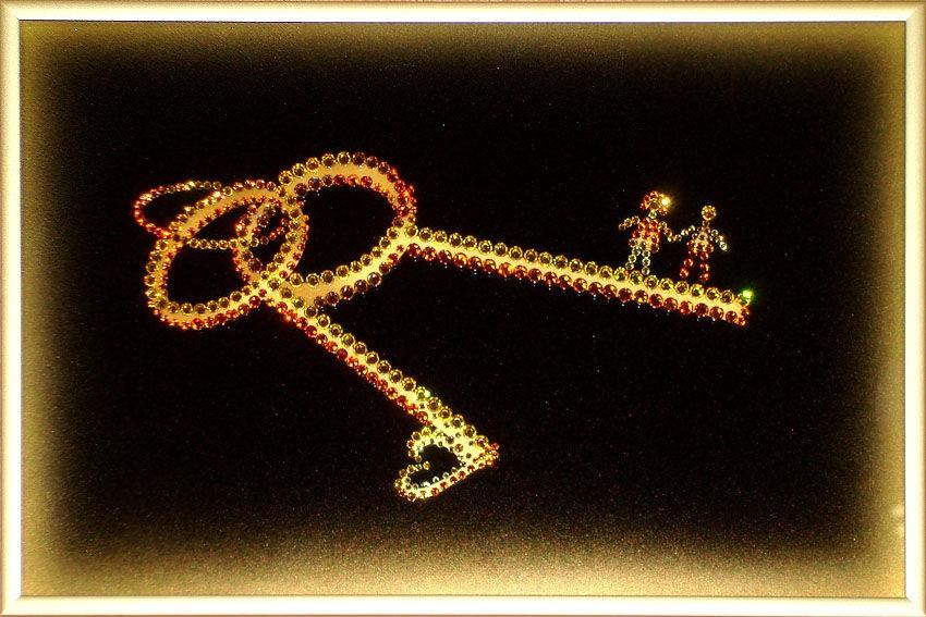 Картина с кристаллами Swarovski  Ключи к счастью