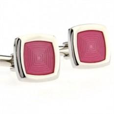 Запонки Розовый шелк