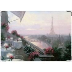 Цветная обложка на права из натуральной кожи Париж