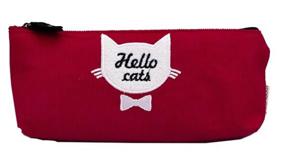 Красный пенал Hello cats