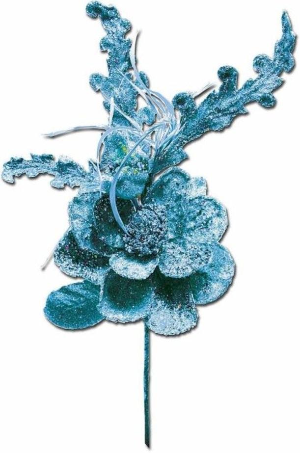 Украшение Ветка с цветком и гранатом Mister Christmas