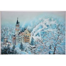Картина с кристаллами Swarovski Сказочный замок