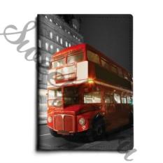 Кожаная обложка для паспорта London Bus