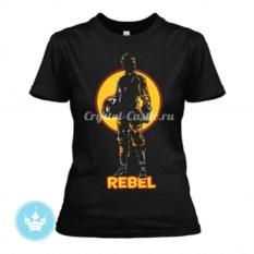 Женская футболка REBEL