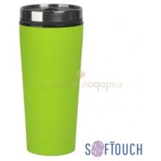 Зеленый термостакан с покрытием soft touch Верона
