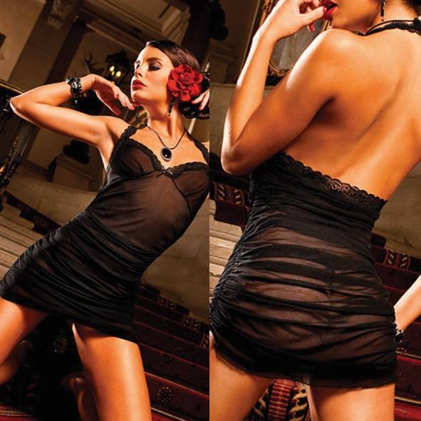 Мини-платье Spanish OS (42-46), черное