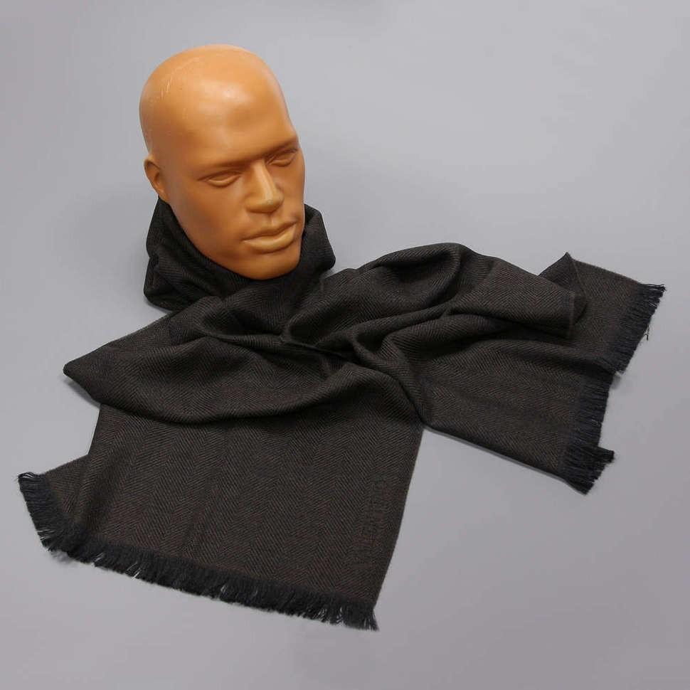 Зимний коричневый мужской шарф Valentino
