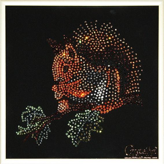 Картина с кристаллами Swarovski Белочка
