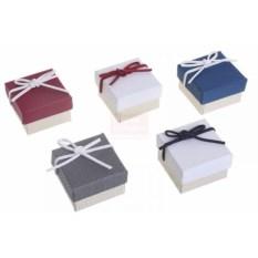 Подарочная коробка под кольцо Замшевый бантик