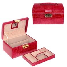 Красная шкатулка, размер 23x17x13 см