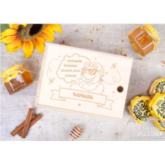 Подарочный набор из 6 банок мёда «Хорошему человеку»