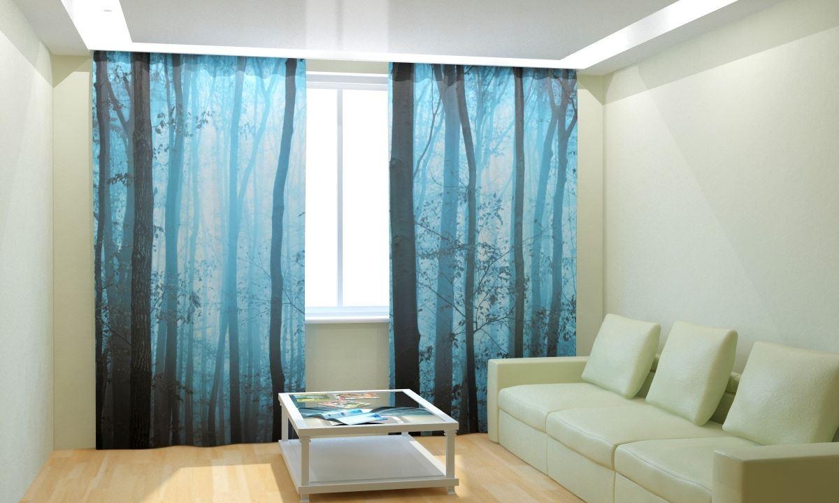 Фотошторы Туманные деревья