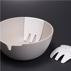 Миска для салата Hands On™, серая/белая