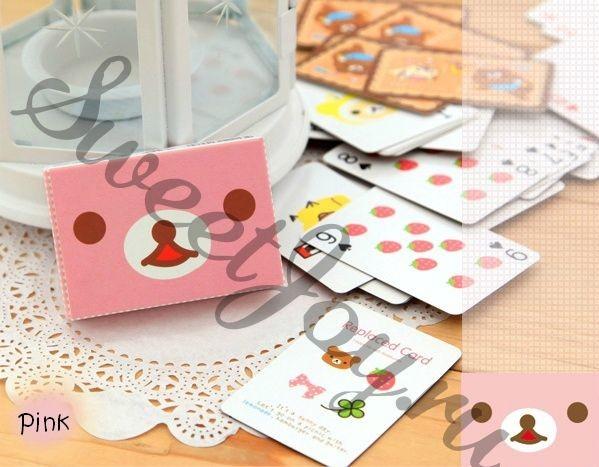 Игральные мини-карты Rilakkuma Tiny (Розовые)