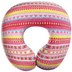 Розовая дорожная подушка антистресс Вязание