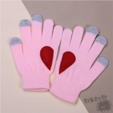 Розовые тouch-перчатки Love is...