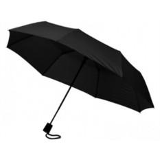 Складной полуавтоматический зонт черного цвета