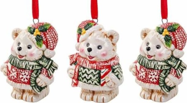 Набор елочных украшений Медвежата Mister Christmas