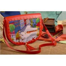 Женская сумка-седло с принтом Волшебная мелодия