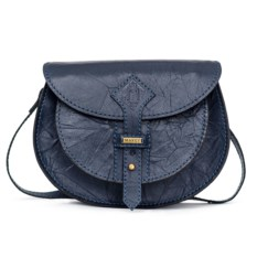 Темно-синяя женская сумочка с художественным тиснением