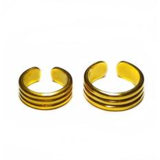 Позолоченные фаланговые кольца Рок-н-ролл втроем