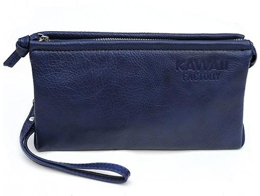 Синий кошелек-клатч Kawaii Factory