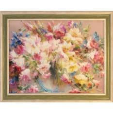 Картина с кристаллами Сваровски Натюрморт с лилиями