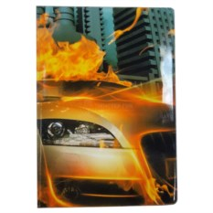Обложка для паспорта Машина в огне
