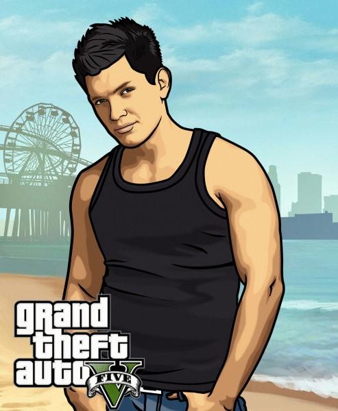 Мужской портрет в стиле GTA