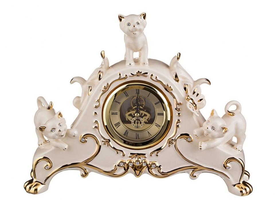 Настольные белые часы Кошки Hangzhou Jinding