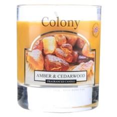 Ароматическая свеча Амбра и кедр