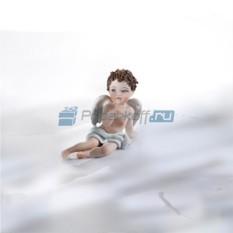 Фарфоровая статуэтка Ангелочек-мальчик (Sibania)