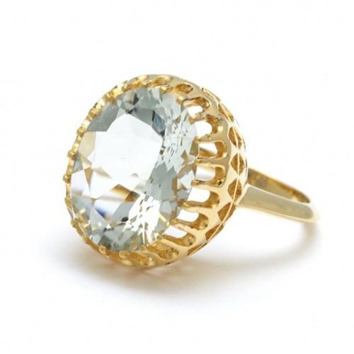 Позолоченное кольцо с аметистом Maia