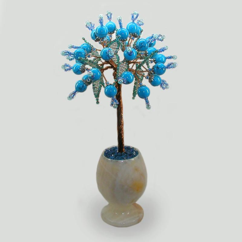 Дерево из бирюзы Бирюзовое море