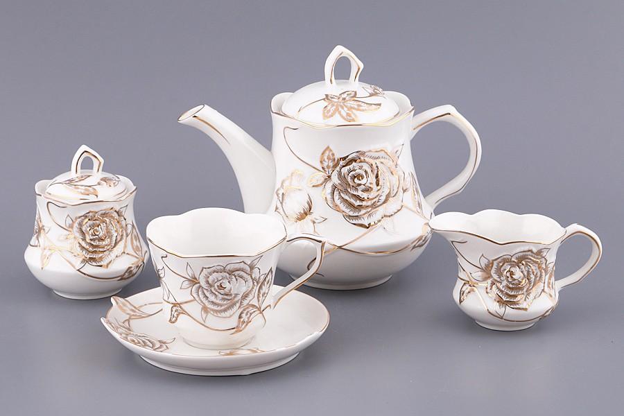 Чайный сервиз Золотая роза