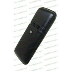 Черный кожаный футляр для трех ручек Aurora Torino