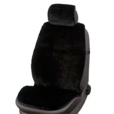 Меховая накидка из овчины с подголовником на автокресло
